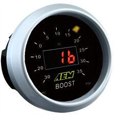 AEM DIGITAL DISPLAY BOOST TURBO PRESSURE GAUGE 35 PSI 30-4406