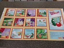 Veggietales How In The World? Fabric Cloth Book Panel 23x42 by QT