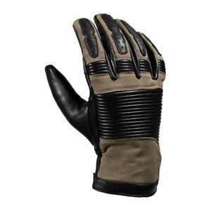 John Doe Durango Leather Motorbike Motorcycle Gloves - Camel/Black