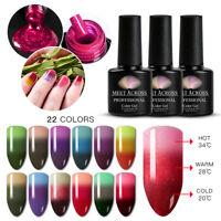 MEET ACROSS 3 Colors Temperature Gel Nail Polish Soak Off Thermal Colour Change