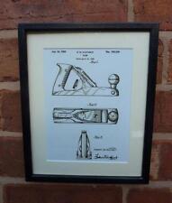 USA Patent Drawing  WOOD WORKING PLANE DIY tool MOUNTED PRINT 1950 Xmas Gift