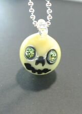 Bone Skull Marble with Swarovski Eyes 022