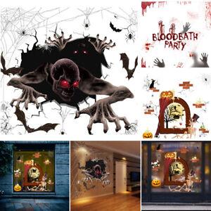Halloween 3D Wall Stickers Party Props Floor Window Decals Room Ornament Decor