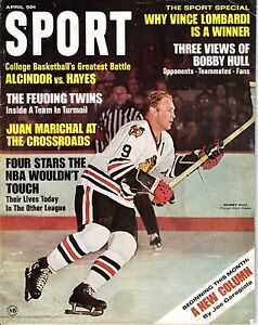 1968 APRIL Sport Magazine hockey Bobby Hull, Chicago Blackhawks No Label Good