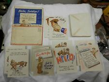 ww2 1942 10 Hallmark cards kit given to soldiers military letters RARE