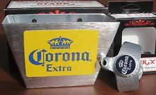 CORONA  Beer Custom Bottle Opener & Playing Card Cap Catcher Set * Cerveza NIB