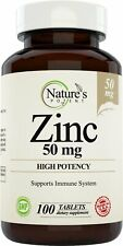 Zinc 50mg, [High Potency] Immune System Support - Immunity Booster (100 Tablets)