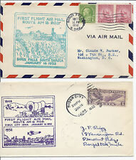 1932 US FFC First Flight Cover Lot of 2 - Sioux Falls, South Dakota FAM 18*