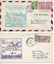1932 US FFC First Flight Cover Lot of 2 - Sioux Falls, South Dakota FAM 18*
