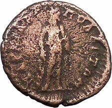 Diadumenian Marcianopolis Ancient Roman Coin Asclepius Medical symbol   i47825
