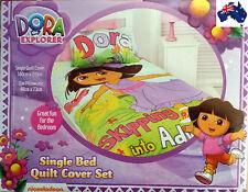 Aus Qlty Dora the Explorer Single Bed Doona/Duvet/Quilt Cover Set