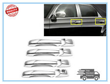 Chrome Door Handle Covers Fit Jeep Grand Cherokee-Compass-Patriot W/O Smart Key