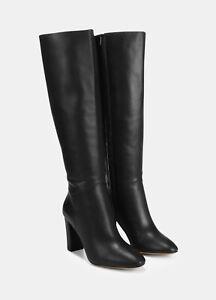 NIB Vince Vita Leather Knee High Tall Boots, Black Size 6~10 $595