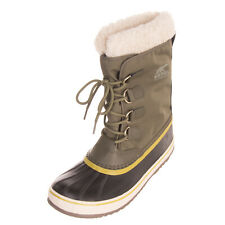 SOREL Leather & Canvas Winter Boots EU41 UK8 US10 Faux Fur Lining Waterproof