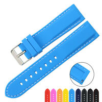 ZLIMSN Silicone Rubber Watch Strap Band Quick Release Spring Bar 18mm-24mm MS