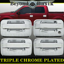 2004-2014 FORD F150 4dr Crew Cab Chrome Door Handle Covers W/O PSK W/O Keypad