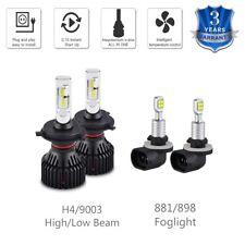 For Kia Spectra 2005-2008 2009 9003 H4 & 881 LED Headlight Foglight Combo Bulbs