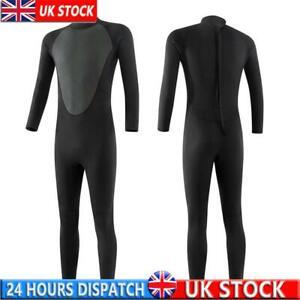 3MM Unisex Neoprene Wetsuit Fleece Men's Lined Full Length Kayaking Surf Suit UK