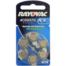 """""""6x Rayovac ACOUSTIC SPECIAL Hörgeräte-Batterie ZA 675 V675 blau"""