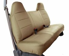 FORD F-250 350 BEIGE IGGEE S.LEATHER CUSTOM FIT BENCH FRONT SEAT COVER
