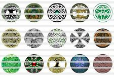 (60) Celtic Bottle Cap Image Pre-Cut 1 inch