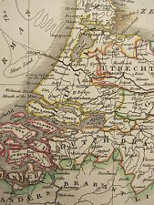 1813 DATED ANTIQUE MAP ~ HOLLAND DUTCH BRABANT ZEELAND UTRECHT GELDERS FRIESLAND