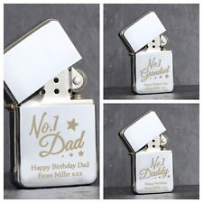 Personalised Lighter 'No 1 Daddy' Grandad Silver Lighter Dad Gift Christmas Gift
