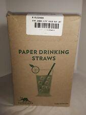(8) 875 Packs (7000 Total) Black Paper Straws - Biodegradble Solid Bulk Made Usa
