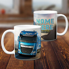 Personalised Lorry Mug Trucking Fathers Day Birthday Cup Custom Text Gift