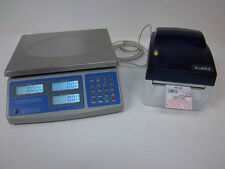 Sws Pcs 60 Lb Price Computing Scale Lbskgsozs Withgodex Dt4 Barcode Printer 8040