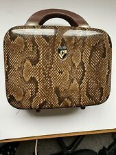 Heya Beauty Case Brown Snakeskin