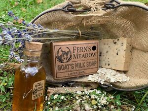 Hand Crafted REAL Goat's Milk Soap (Lavender) > 4 oz.