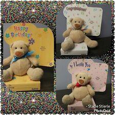 Ganz Bear Gift Card Holders - Happy Birthday, Congratulations, I Love You