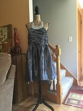 Grey Rhinestone Halter Top Dress Size 20