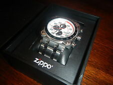 Zippo White Face Chronograph Sport Band Watch 45020 *NEW*