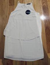 SASS White Rebecca Overlay Dress - Size 8 - New