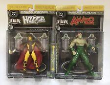 2000 DC Direct Amazing Androids JLA Hourman And Amazo Action 2 Figure Lot