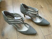 Marks and Spencer Womens Stilettos Shoes Stripped Size 6