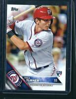 2016 Topps TREA TURNER RC #103 Pack Fresh MINT - Nationals ROOKIE CARD🔥