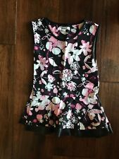 DKNY Black & Pink Floral Shirt in Girls Size XL