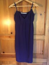 2d9308e51 Twelfth Street by Cynthia Vincent Purple Silk Spaghetti Strap Dress Size S  EUC