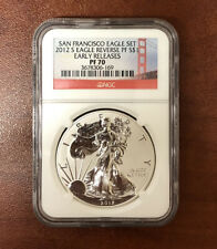 2012 S REVERSE PROOF SILVER EAGLE COIN SAN FRANCISCO NGC 70 (from set)