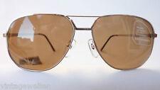 ESCHENBACH occhiali da sole uomo argento oro metallo grande 85% MARRONE TAGLIA L