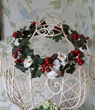 Autumn Winter Brides Wedding Flower Vintage Crown Handmade Circlet Rose Ivy