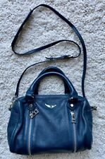 Zadig & Voltaire Teal Leather Sunny Crossbody Top Handle Bag