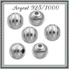 en Argent 925//1000 DIVOL3 Réf Perles toupies lisses 3x2mm trou 1,2mm