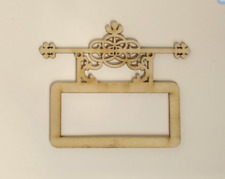 1/12th scale miniature dollhouse roombox fretwork sign