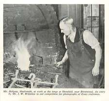 1956 Blacksmith Mr Holgate At Shenfield Forge, Brentwood, J W Whitelaw Photo