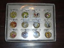 NEW POTTERY BARN 12 DAYS CHRISTMAS SET OF 12 HOLIDAY WINE CHARMS