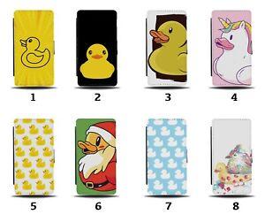 Rubber Duck Flip Wallet Case Ducks Yellow Bath Bathtime Funny Toy Kids Tub 8070